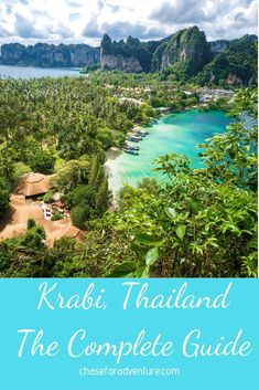 Wondering what to do in Krabi? This is the complete guide for those of you visiting Krabi, Thailand. The home of Railay Beach, and the Phi Phi Islands. Find info on where to stay and what to do in Krabi! Krabi Thailand, Thailand Travel, Asia Travel, Bangkok Travel, Phi Phi Island, Top Travel Destinations, Places To Travel, Tahiti, Railay Beach