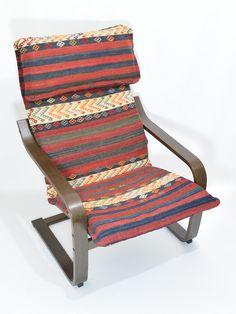 IKEA POÄNG Cushion Handmade Rug Slipcover 019