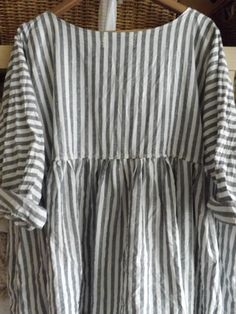 OSFA Greypearl striped linen shirt : eBay