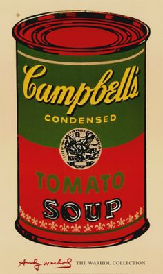 Campbell's Soup Can, 1965 (Green and Red) Print by Andy Warhol at Art.com
