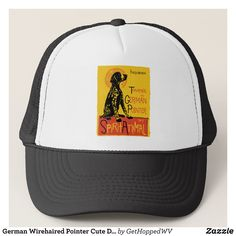 German Wirehaired Pointer Cute Dog Trucker Hat - Urban Hunter Fisher Farmer Redneck Hats By Talented Fashion And Graphic Designers - #hats #truckerhat #mensfashion #apparel #shopping #bargain #sale #outfit #stylish #cool #graphicdesign #trendy #fashion #design #fashiondesign #designer #fashiondesigner #style