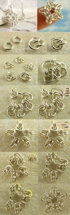Excellent free chainmaille or chain maille tutorials on all the most popular weaves and patterns. Wire Wrapped Jewelry, Metal Jewelry, Beaded Jewelry, Handmade Jewelry, Diy Jewellery, Jewlery, Fashion Jewelry, Diy Schmuck, Schmuck Design