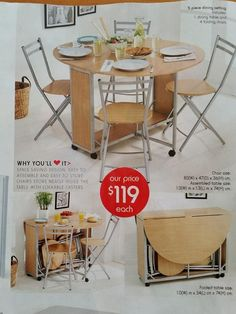 In this week's (3.10.14) Kmart catalogue that would be well suited for a Tiny House - NSW catalogue.  Might see if there are any left in our local store.