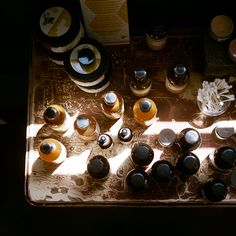 late afternoon light on tinctures.