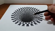 How to draw a Hole - Anamorphic Illusion   wordlessTech #3ddrawingstepbystep