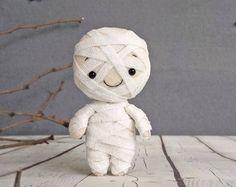 Halloween decoración momia espeluznante lindo juguete fieltro Halloween regalo Baby Shower favorece adornos Halloween adornos Halloween Props Trick or Treat