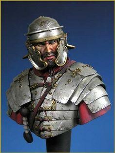 Young Miniatures - Roman Legionarius, Century A. Sparta Warrior, Roman Armor, Roman Warriors, Greek Mythology Art, Classical Antiquity, Roman Soldiers, Roman History, Armor Of God, Armor Concept