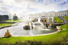 """Founded in the beginning of the XVIII century by Emperor Peter I near the new northern capital - St. Petersburg, Peterhof was planned to become the most splendid official royal summer residence.  Our St Petersburg private tours may be organized for you to explore marvelous Peterhof. We named this tour """"What a fountain"""". Discover our tour menu on ithorosho.com Drop us a message at mail@ithorosho.com  #vacation #travel #trip #travelling #world Niagara Falls, Finland, Versailles, Waterfall, Castle, Tours, Explore, Mansions, Architecture"""