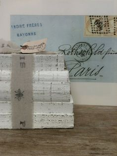 Restoration Hardware Style,Paris, Wedding ,Distressed Books, Painted Books, French Decor