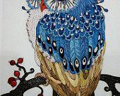 Ähnliche Artikel wie Handgemachte Owl Paper Quilling Kunst auf Etsy