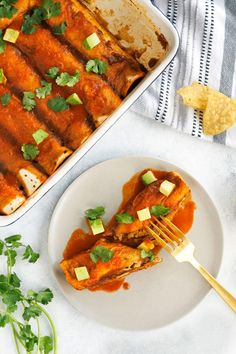 When you're craving Mexican food, these vegan enchiladas will satisfy all of your desires for warm and spicy stuffed tortillas topped with creamy avocado.