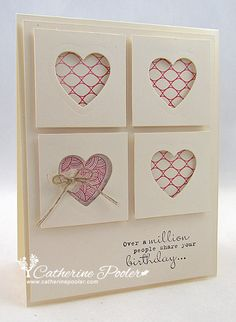 made by catherine. love the layout and the cut out hearts.