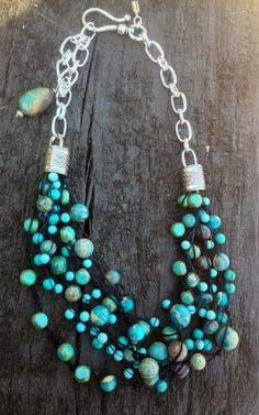 "Turquoise ""bubble"" necklace - LOVE"