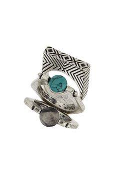 Semi precious stack rings