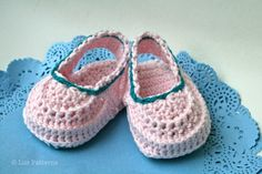 Baby booties crochet pattern summer clogs by LuzCrochetPatterns, $3.99