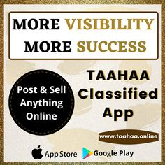 Now create and post classified ads online within minutes for more visibility - more success. Just download the Taahaa - Free Classified App, provide necessary details regarding your business services/products and post an ad online to get organic results.