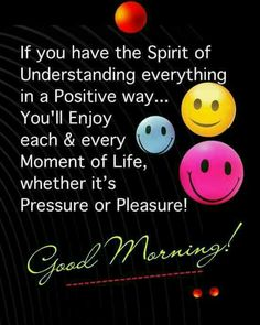 Good Morning...Have a good day