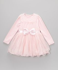 Another great find on #zulily! Pink Bow Skirted Dress - Toddler & Girls by Blossom Couture #zulilyfinds