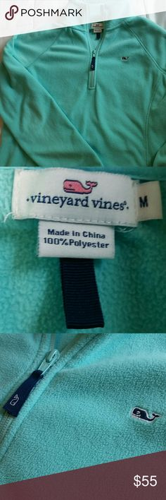 Vineyard Vines Pullover Half zip Tiffany Blue ?? Tiffany blueish / teal color ?? Super soft ??% polyester Vineyard Vines pull over half zip. Very comfortable, and in brand new condition! Vineyard Vines Sweaters