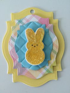 Easter egg clay tags easter gift tags set of two easter peeps easter gift tag negle Gallery