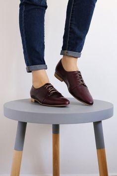 Purple shoes - ON SALE 30% Womens shoes , Purple wide leather flats brogue , ADIKILAV