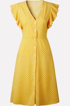 Boho Polka Dot Print Dress Women Casual Sleeveless V Neck Red Sundress Midi Dress Beach ALine Dress Vestidos Yellow XXL Midi Dress With Sleeves, Short Sleeve Dresses, Long Sleeve, Red Sundress, Day Dresses, Summer Dresses, Women's A Line Dresses, 80s Dress, Dress Red