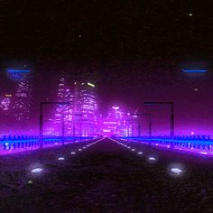 Image de aesthetic, vaporwave, and gif aesthetic gif Animated gif about gif in pretty things💫 by venus*:・゚✧ Violet Aesthetic, Badass Aesthetic, Night Aesthetic, Aesthetic Movies, Aesthetic Images, Purple Aesthetic, Retro Aesthetic, Aesthetic Videos, Aesthetic Backgrounds