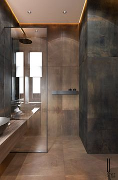 Architecture,Visual Effects,Interior Design Washroom Design, Bathroom Design Luxury, Modern Bathroom Design, Luxury Bathrooms, Dream Bathrooms, Bathroom Design Inspiration, Apartment Interior, Beautiful Bathrooms, Small Bathroom