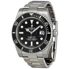 Rolex-Submariner-Black-Dial-Ceramic-Bezel-Steel-Mens-Watch-116610LN