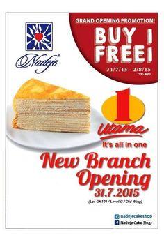 31 Jul-2 Aug 2015: Nadeje 1 Utama Grand Opening Promotion