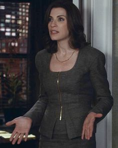 Find Out Why The Good Wife's Alicia Florrick Dressed In Neutrals in Season 5, Episode 8 From Costume Designer, Daniel Lawson - Season 5, Episode 6: Tom Ford Suit  - from InStyle.com