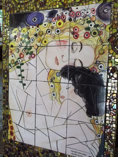 "Mix Media: Gustav Klimt ""Mother and Child"" - Sold"