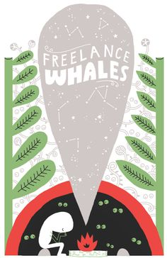 freelance whales concert poster by Andy J Miller