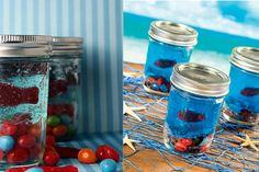 Aquarium Jell-O! Parfait pour le poisson d'Avril ou une fête d'enfant!