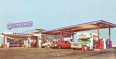 Pleasant Family Shopping: The Golden Age of Gas Stations