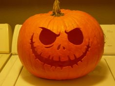 Nightmare before Christmas pumpkin carving! I'm doing this one tonight :)