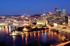 Wallmonkeys Pittsburgh at Night Peel and Stick Wall Decals WM42465 36 in W x 24 in H -- Read more reviews of the product by visiting the link on the image.