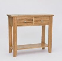 Sherwood Oak 2 Drawer Console Table The Sherwood Oak furniture range is a substantial, high quality collection, which would bring a contemporary flourish to a multitude of interiors. Solid, light oak is crafted into sophisticated pieces Selling Furniture, Online Furniture, Quality Furniture, Small Tv Cabinet, Oak Bedroom Furniture, Wood Furniture, Garden Furniture, Table Height, Tall Table