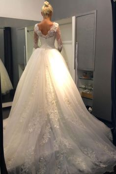 Lace Illusion Bust High Neck Wedding Dresses