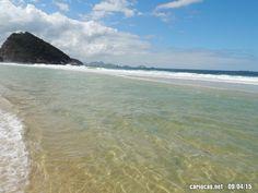 Foto da praia do Leme (Rio de Janeiro), na quinta-feira (09/04/15)