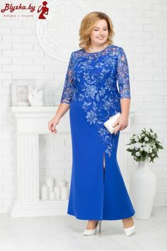 Women Fashion Elegant Lace Patchwork Dress Mother of The Bride Dress African Fashion Dresses, African Dress, African Style, Evening Dresses Plus Size, Plus Size Dresses, Elegant Dresses, Formal Dresses, Lace Dress Styles, Mother Of Groom Dresses