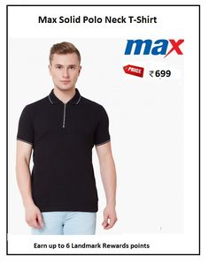 #Max #Solid #Polo #Neck #T-Shirt #Design : Stripes #Price: ₹699.00 #Fit : Slim #Style : Casual #Fabric : Cotton Blend Polo Tees, Neck T Shirt, Stripes, Slim, Casual, Fabric, Mens Tops, Cotton, Shirts
