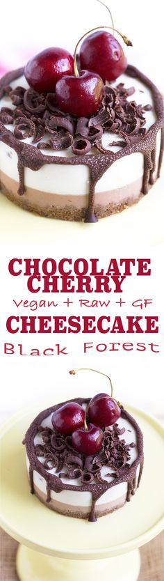 AMAZING Vegan CHOCOLATE CHERRY CHEESECAKE // Black Forest Cheesecake // #glutenfree RAW and Creamy // delicious & guilt-free   Cheesecake CIOCCOLATO & CILIEGIE #vegan #senzaglutine #blackforest