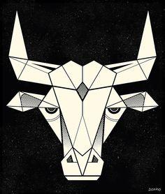 bull-spirit-animal-art-kurt-diserio-illustration.jpg (500×589)