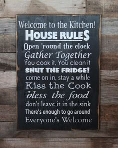 Large Wood Sign Welcome to the Kitchen Subway by dustinshelves