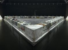 On permanent exhibit at the The Elizabeth A. Sackler Center for Feminist Art located in the Brooklyn Museum: The Dinner Party by Judy Chicago