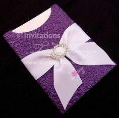 Pocket Wedding Invitations with bling and by InvitationsbyTango