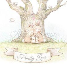 Family Art Print FAMILY LOVE Archival Print