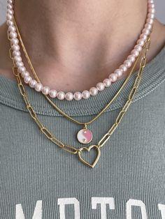 Trendy Necklaces, Trendy Jewelry, Cute Jewelry, Jewelry Accessories, Women Jewelry, Jewelry Design, Vintage Jewelry, Gold Necklaces, Fashion Jewelry Necklaces