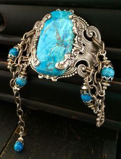 Bohemian Stone Jewelry Western Silver by KarenTylerDesigns on Etsy